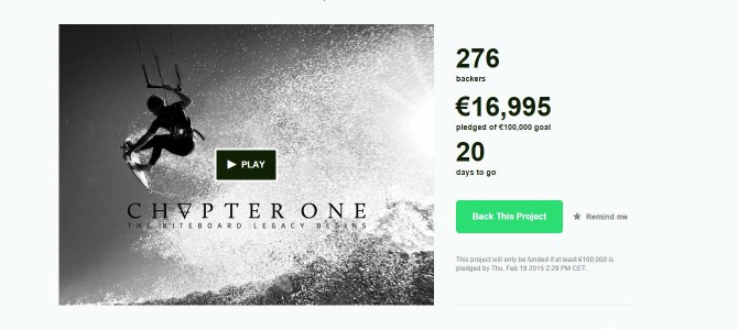 Chapter One: Kitesurf Movie bei Kickstarter.com